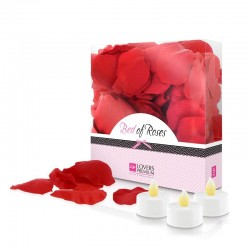 Loverspremium Cama de Rosas Color Rojo