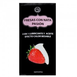 Secret Play Pack 12 Monodosis Lubricante Fresas con Nata