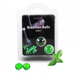 Secret Play Set 2 Brazilian Balls Aroma Menta