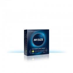 My Size Preservativos Naturales de Latex Talla 49 Caja de 3 Unidades