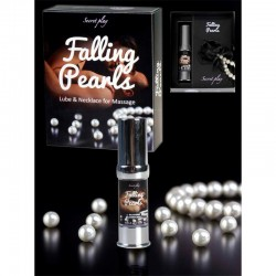 Secret Play Falling Pearls Silicone Lube and Pearls Necklace