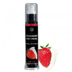 Secret Play Lubricante Efecto Calor Fresas con Nata 50 ml