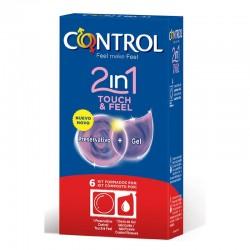 Preservativos Touch Feel 2 en 1 6 unidades
