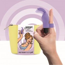 Magic Finger Vibrador para el Dedo Purpura